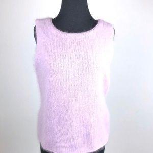 Caslon Angora Lavender sleeveless sweater pullover